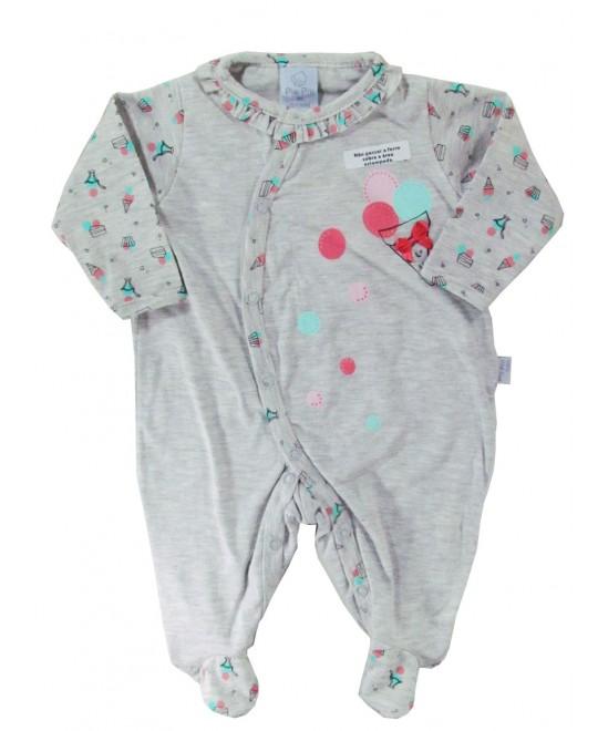 Macacão Bebê Menina Sorvete - Piu Piu