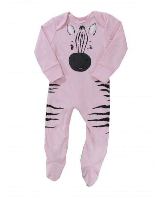 Macacão Comprido Suedine Zebrinha - Rovitex Baby