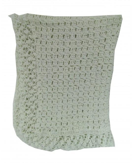 Manta de Lã Feita à Mão Caqui Claro - Albarella