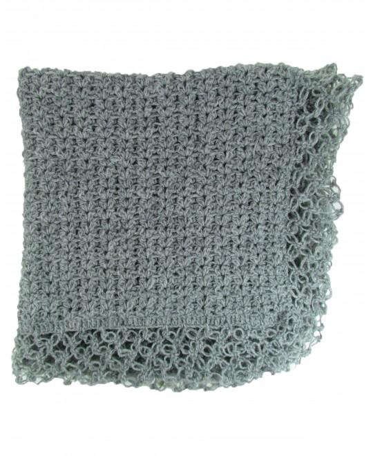 Manta de Lã Feita à Mão Cinza - Albarella