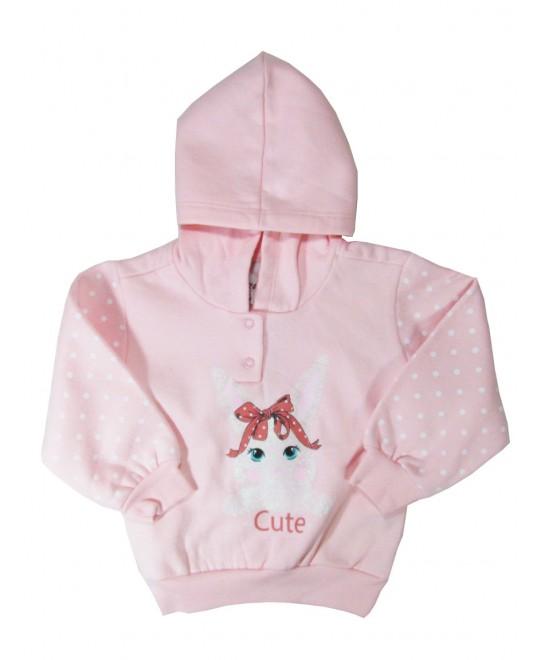 Blusão para Bebê com Capuz Coelha Cute - Minore