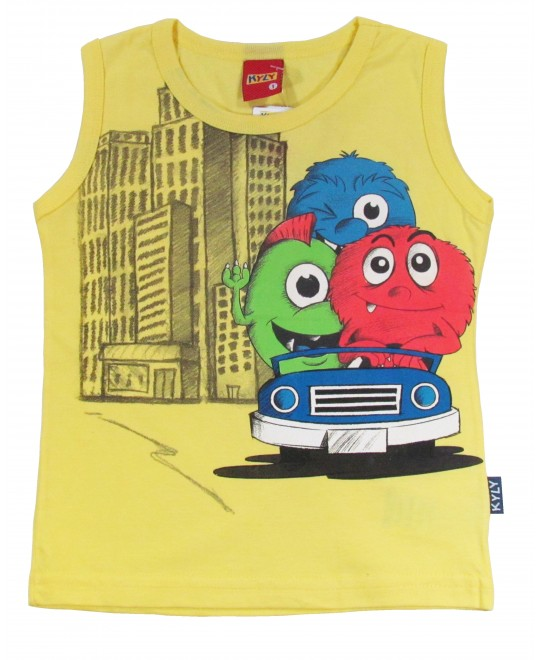 Camiseta Regata Infantil Monsters - Kyly