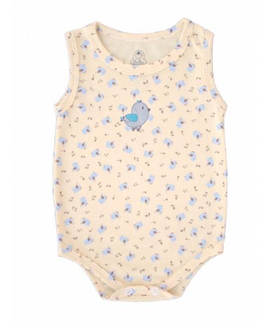 Body Regata Bebê Passarinho Cantor - Piu Blu