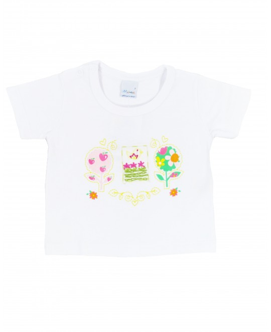 Camiseta Infantil com Pássaro Bordado - Malwee