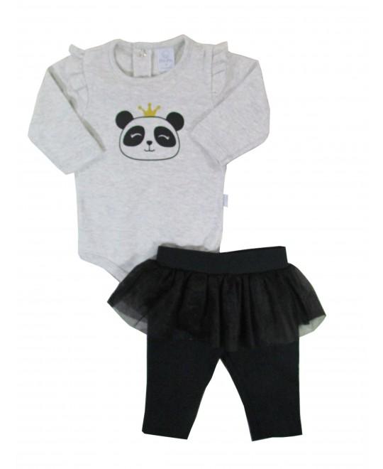 Conjunto de Body e Calça Bebê Princesa Panda - Piu Piu