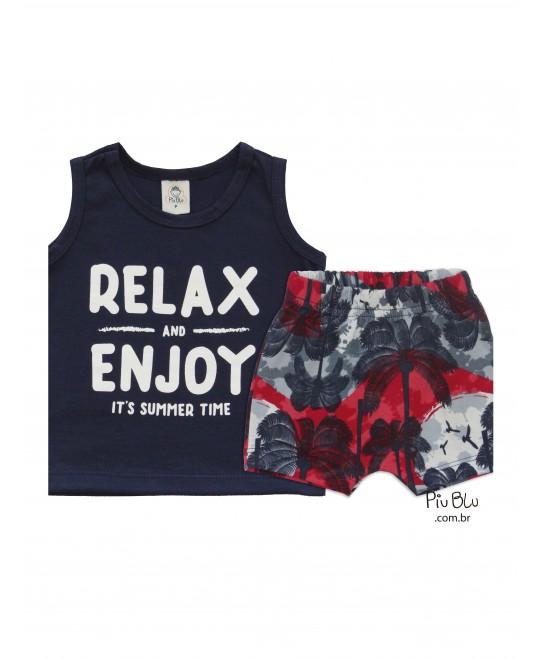 Conjunto Bebê Relax and Enjoy - Piu Blu