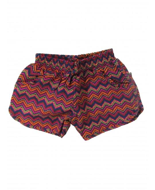 Shorts Infantil Microfibra Estampa Étnica - Rovitex