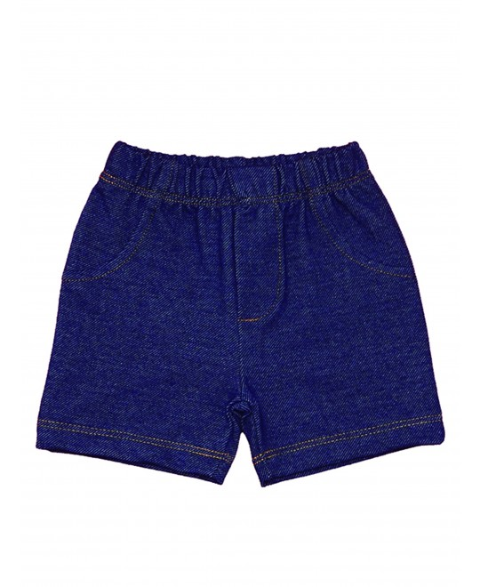 Shorts em Malha Jeans para Bebê - Piu Blu