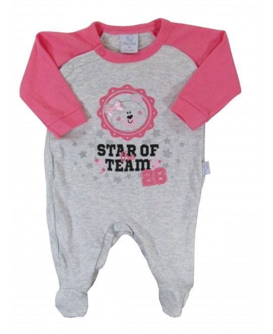 Macacão para Bebê Menina Star of Team - Piu Piu