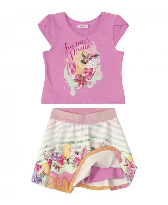 Conjunto Infantil Saia Summer Princess - Trick Nick