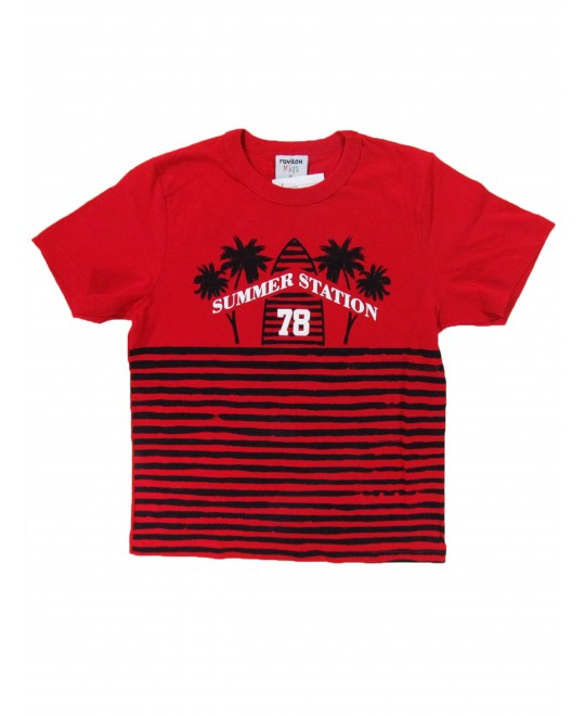 Camiseta Infantil Manga Curta Summer Station - Rovitex