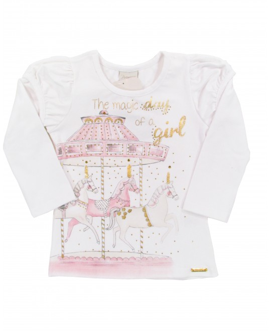 Blusa Infantil The Magic Day Of A Girl - Boca Grande