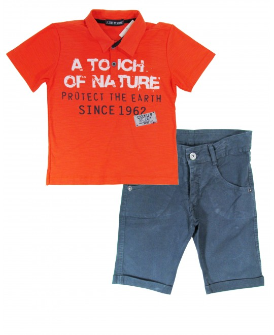 Conjunto Infantil Polo Touch of Nature - Arte Menor