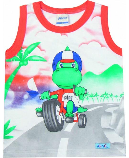 Camiseta Regata para Bebê Triciclo - Alenice