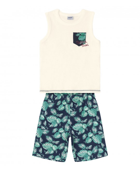 Conjunto Infantil  Regata  Tropical Young - Rovitex