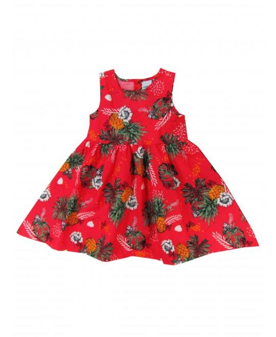 Vestido Infantil Abacaxis - Rovitex