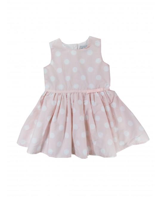 Vestido Bebê Rosa Claro com Bolas - Rovitex