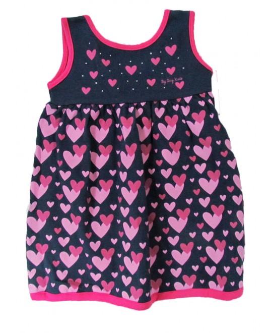 Vestido Infantil Coração e Strass - Big Day