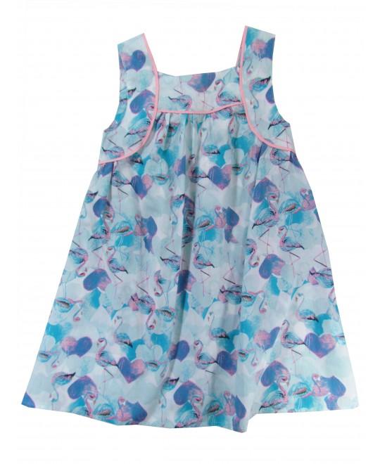 Vestido Infantil  em Tecido Cisnes - Rovitex