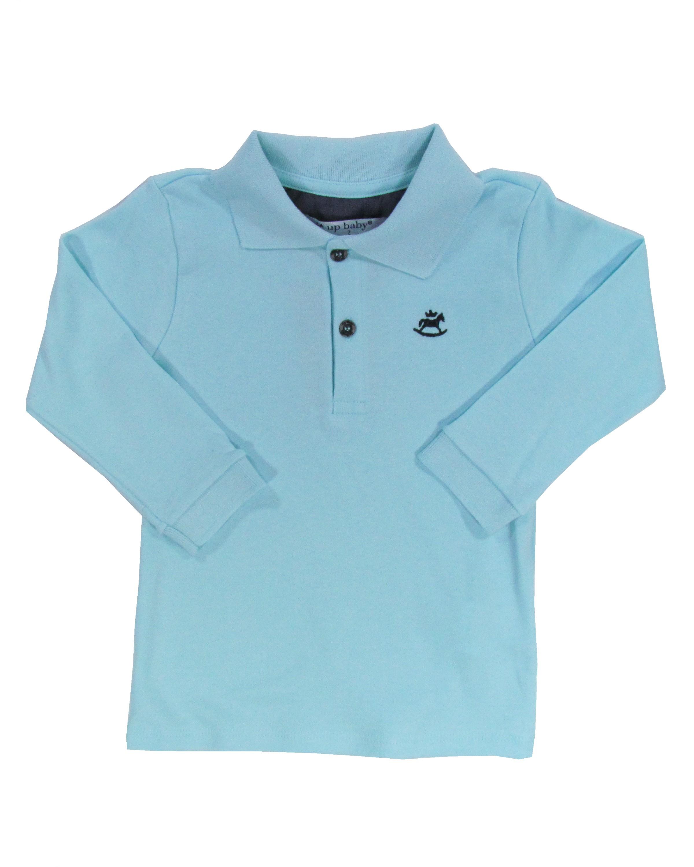 fc57073a55ac7 Camiseta Polo Infantil Primeiros Passos Lisa Manga Longa Básica - Up ...