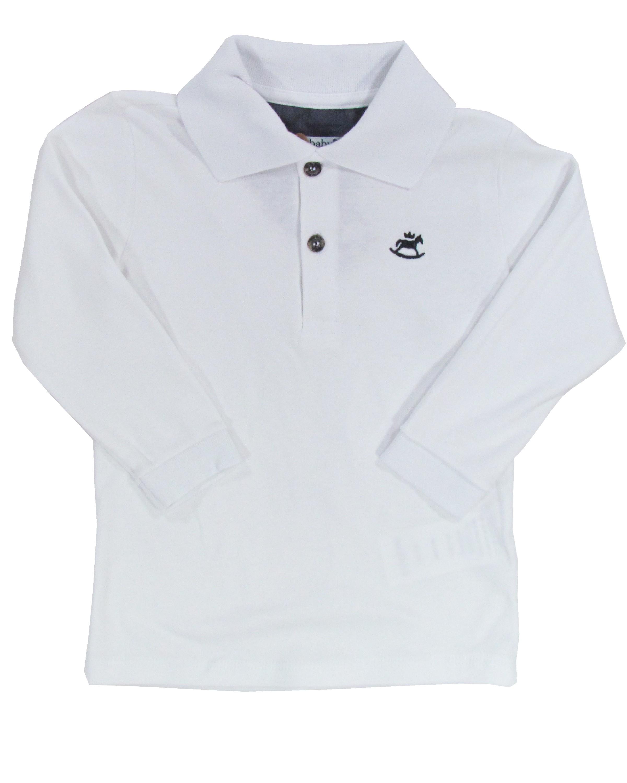 Camiseta Polo Infantil Primeiros Passos Lisa Manga Longa Básica - Up ... 41f29df1ad4f5