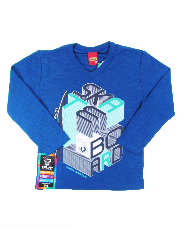 1677bcd9b3 Camiseta Infantil Menino Manga Longa Royal Skatista SkateBoard ...