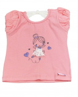 Camiseta Infantil Bailarina - Caracoles