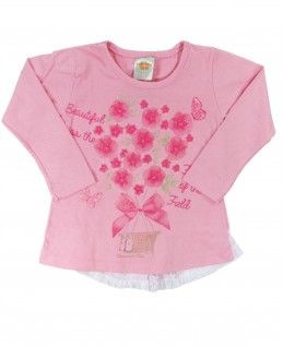 Blusa Infantil Beautiful As The Flowers - Pimentinha