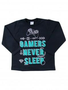 Blusão Infantil Masculino Gamers Never Sleep - Rovitex