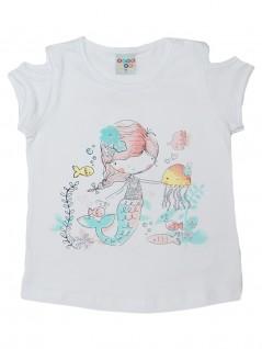 Blusa Infantil Sereia com Flor e Glitter - Have Fun