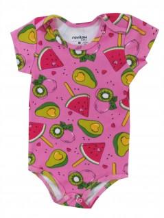Body Bebê Manga CurtaFrutas - Rovitex Baby