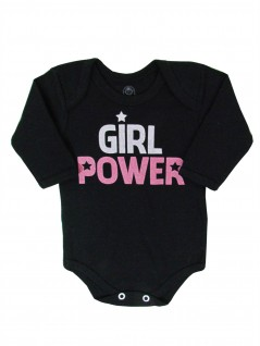 Body Manga Longa Girl Power - Piu Blu
