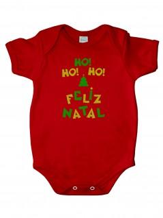 Body Temático Natal Ho! Ho! Ho! - Piu Blu