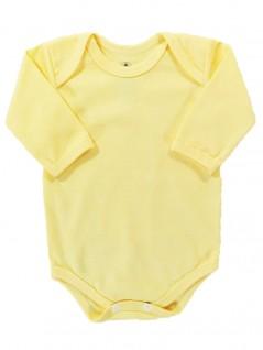 Body Manga Longa para Bebê Básico Amarelo - Piu Blu