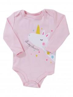 Body Bebê Manga Longa Sleepy Unicorn - Rovitex Baby