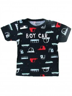 Camiseta Infantil Bebê Manga Curta Boy Car - Rovitex