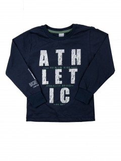 Camiseta Infantil Manga Longa Letreiro Athletic - Big Day