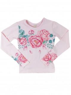 Blusa Infantil com Estampa de Rosas - Dente D'Leão
