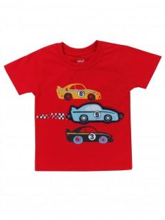 Camiseta Estampa Divertida Carros de Corrida - TipTop