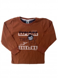 Camiseta Manga Longa Infantil Explore Unknown - Big Day