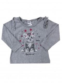 Camiseta Manga Longa Menina Hug your Cat  - Rovitex