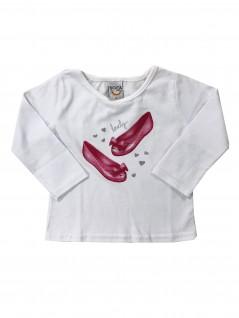 Blusa Infantil Sapatilha Lovely - Boca Grande