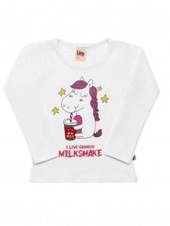 Blusa Bebê Menina Milkshake - Livy