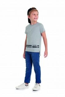 Camiseta Infantil Longline Skate - Alenice