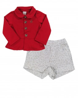 Conjunto Infantil de Shorts e Casaqueto - Boca Grande