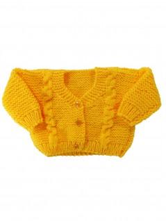 Casaquinho de Lã Amarelo Gema- Albarella Infantil