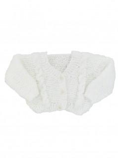 Casaquinho de Lã Branco 2- Albarella Infantil