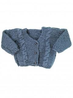 Casaquinho de Lã Cinza Azulado  - Albarella Infantil