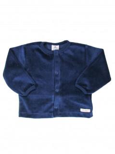 Casaquinho para Bebê em Plush Marinho - Piu Blu