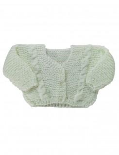 Casaquinho de Lã Verde Claro - Albarella Infantil
